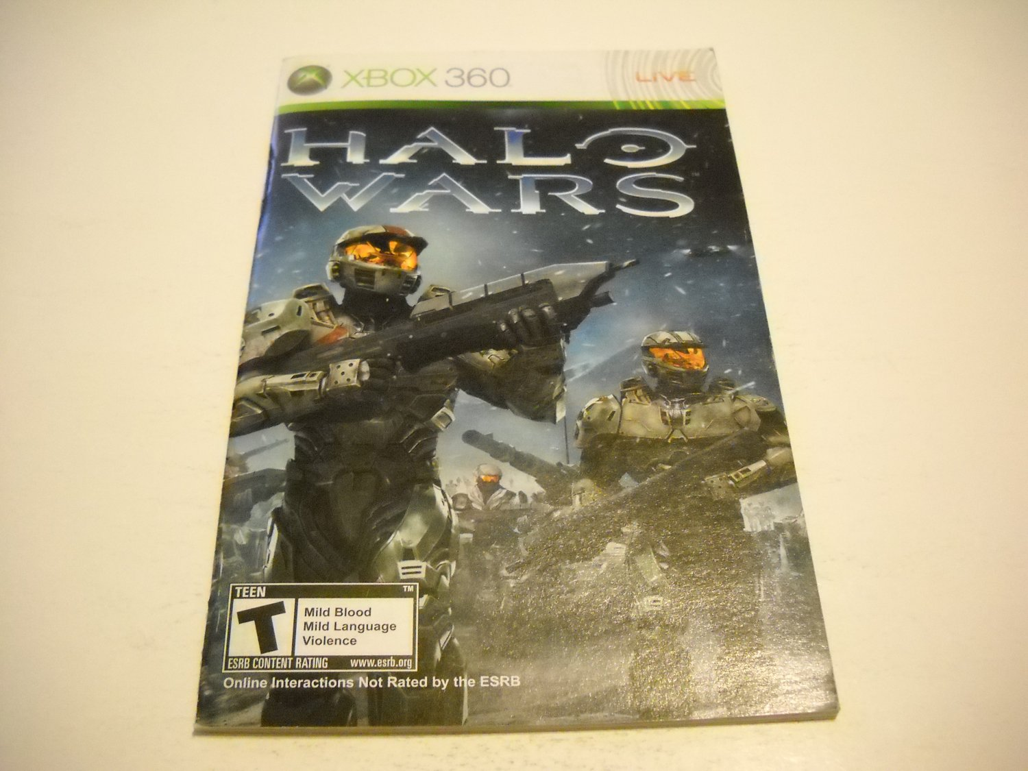 Manual ONLY ~  for Halo Wars   - Xbox 360 Instruction Booklet