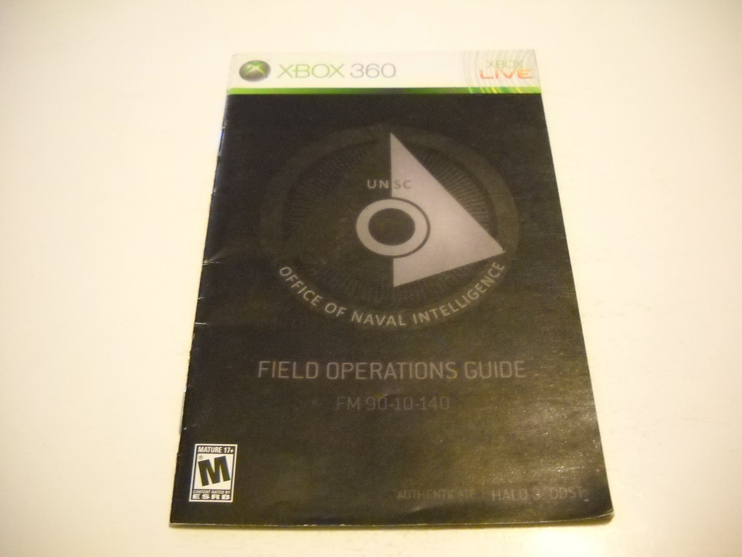 Manual ONLY ~  for Halo 3 ODST   - Xbox 360 Instruction Booklet