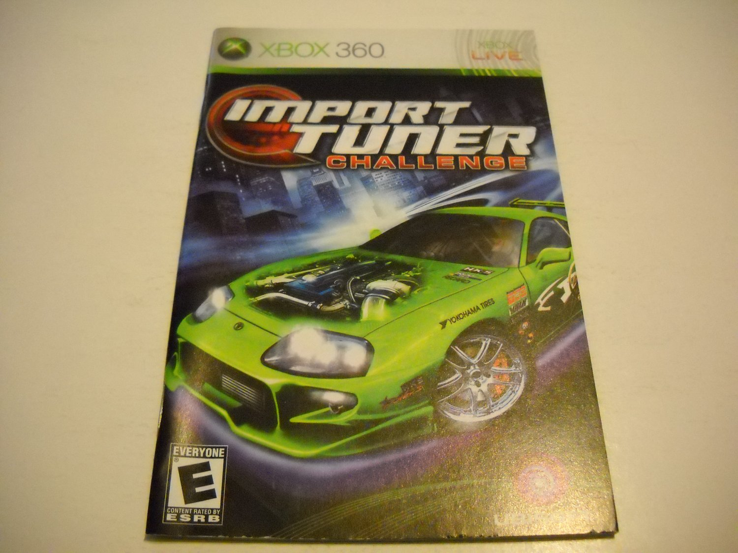 Manual ONLY ~  for Import Tuner Challenge   - Xbox 360 Instruction Booklet