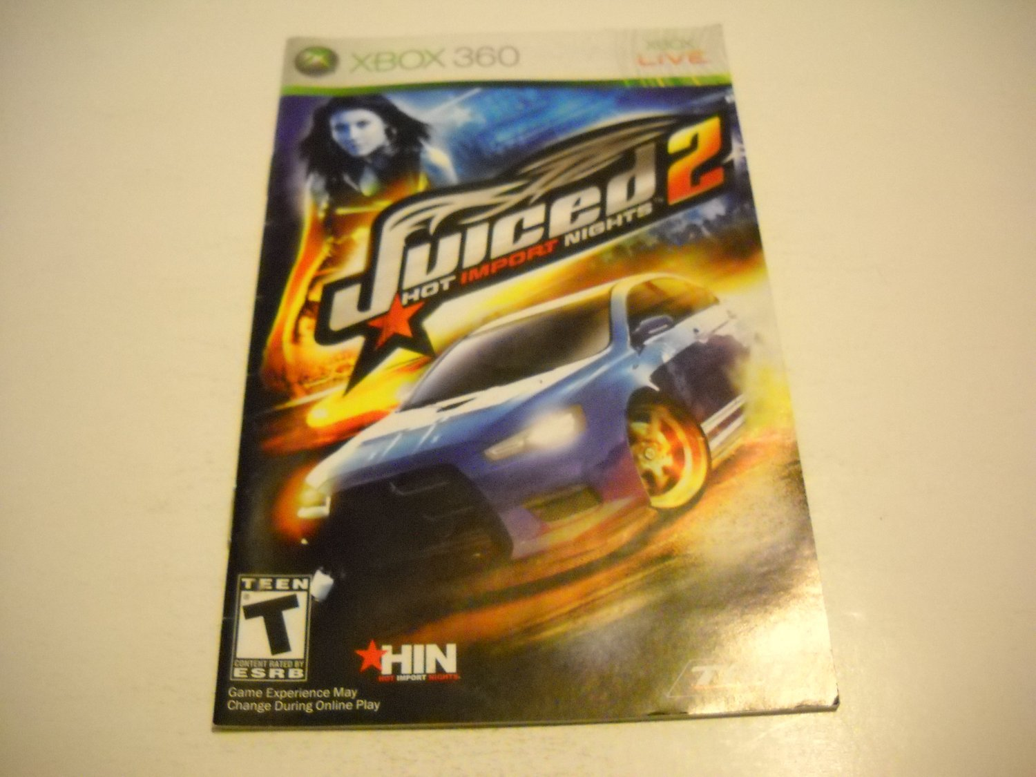 Manual ONLY ~  for Juiced 2 Hot Import Nights   - Xbox 360 Instruction Booklet
