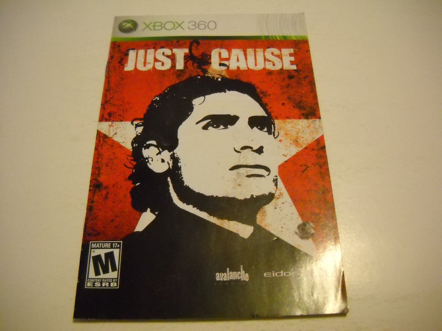 Manual ONLY ~  for Just Cause   - Xbox 360 Instruction Booklet