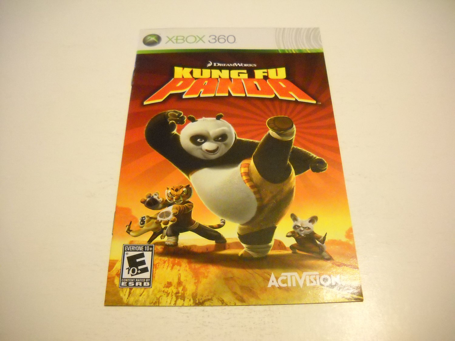 Manual ONLY ~  for Kung Fu Panda   - Xbox 360 Instruction Booklet