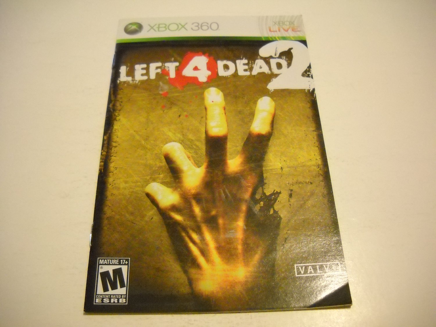 Manual ONLY ~  for Left 4 Dead 2   - Xbox 360 Instruction Booklet
