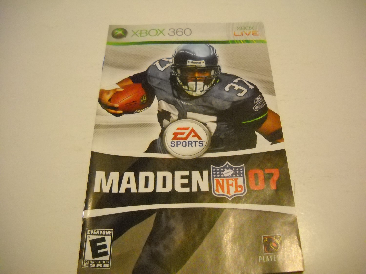 Manual ONLY ~  for Madden 07    - Xbox 360 Instruction Booklet