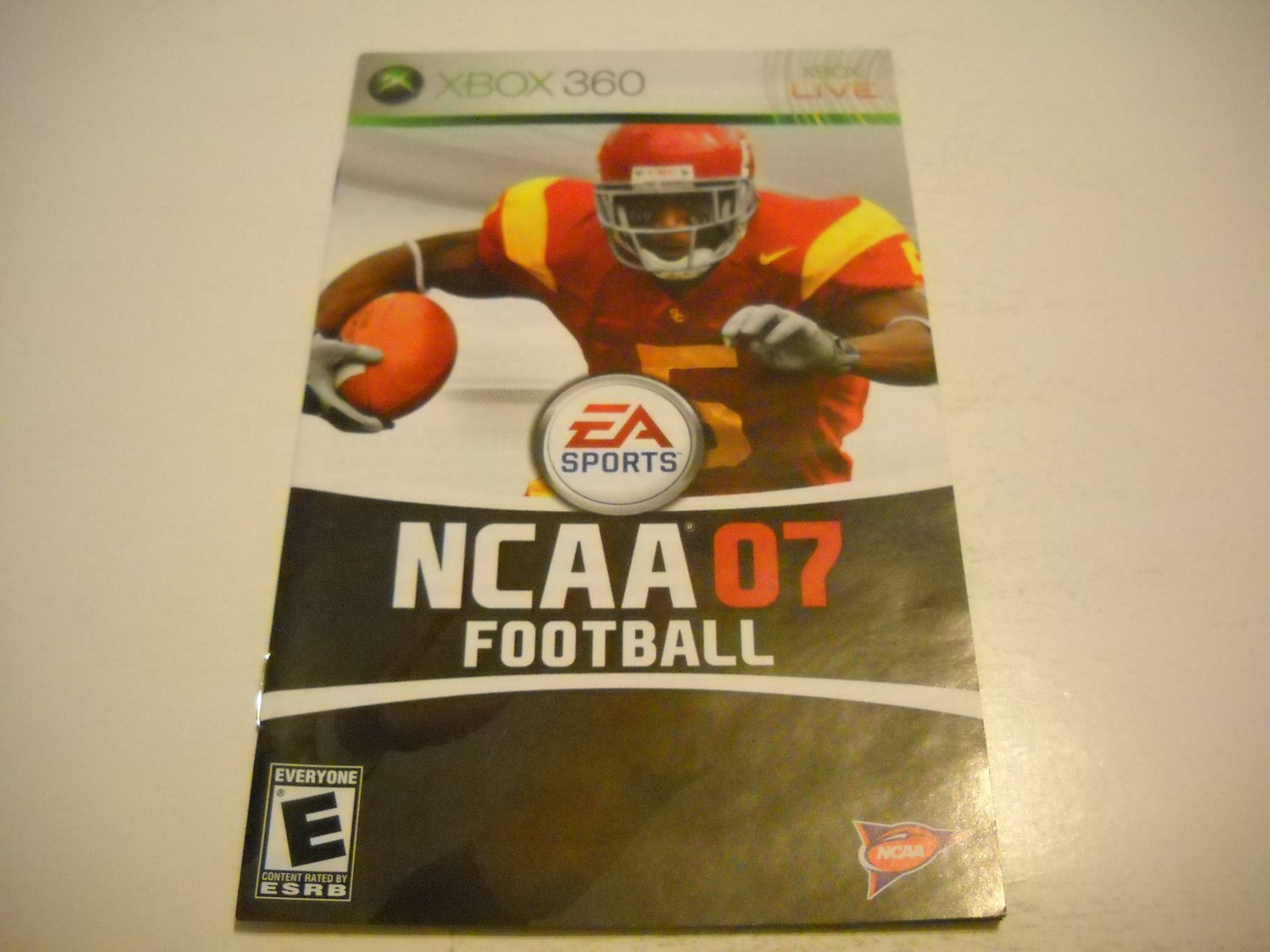 Manual ONLY ~  for NCAA Football 07   - Xbox 360 Instruction Booklet