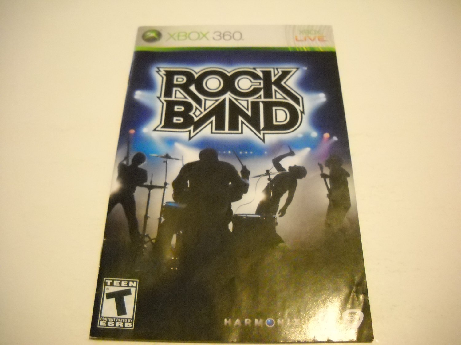 Manual ONLY ~  for Rock Band   - Xbox 360 Instruction Booklet