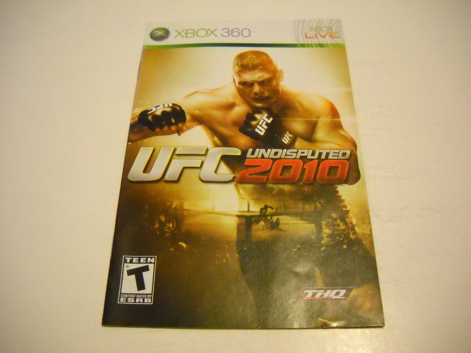 Manual ONLY ~  for UFC Undisputed 2010   - Xbox 360 Instruction Booklet