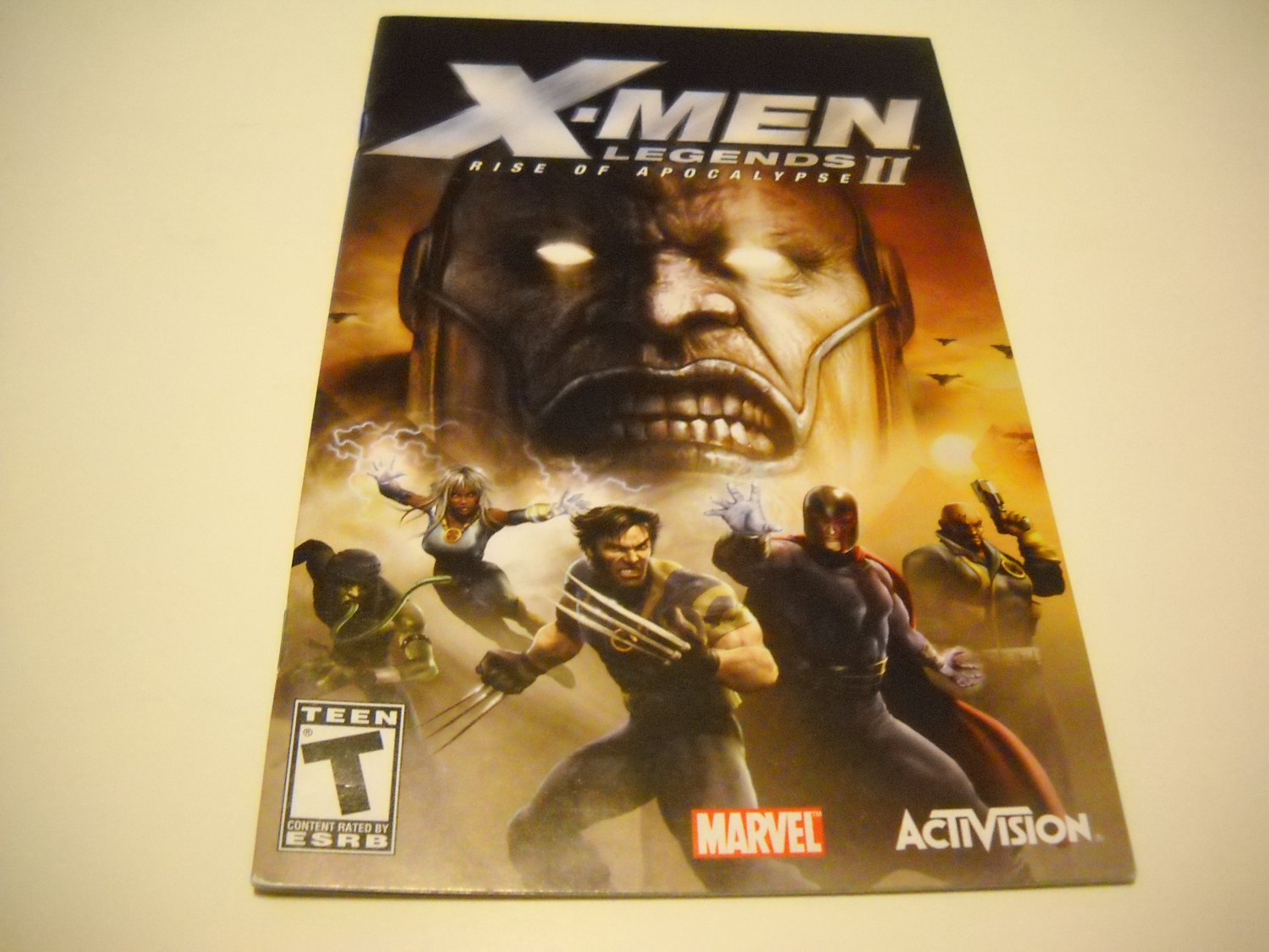 Manual ONLY ~  for X-men Legends II Rise of Apocalypse   Ps2