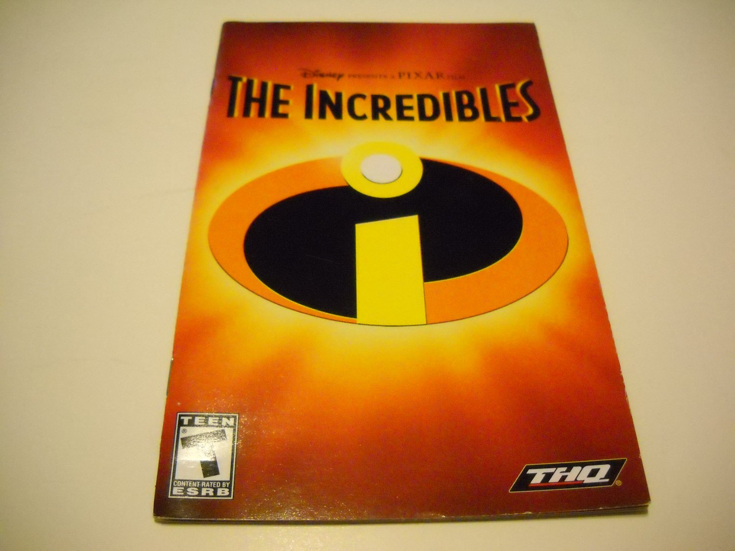 Manual ONLY ~  for The Incredibles   Ps2