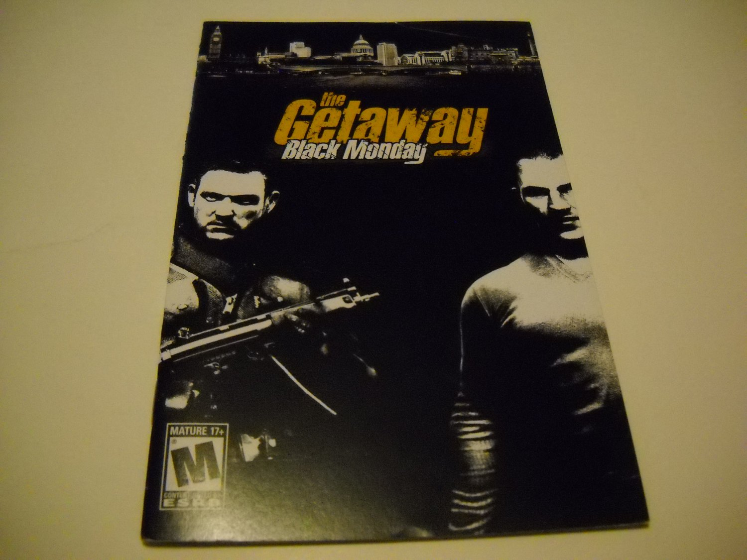Manual ONLY ~  for The Getaway Black Monday   Ps2