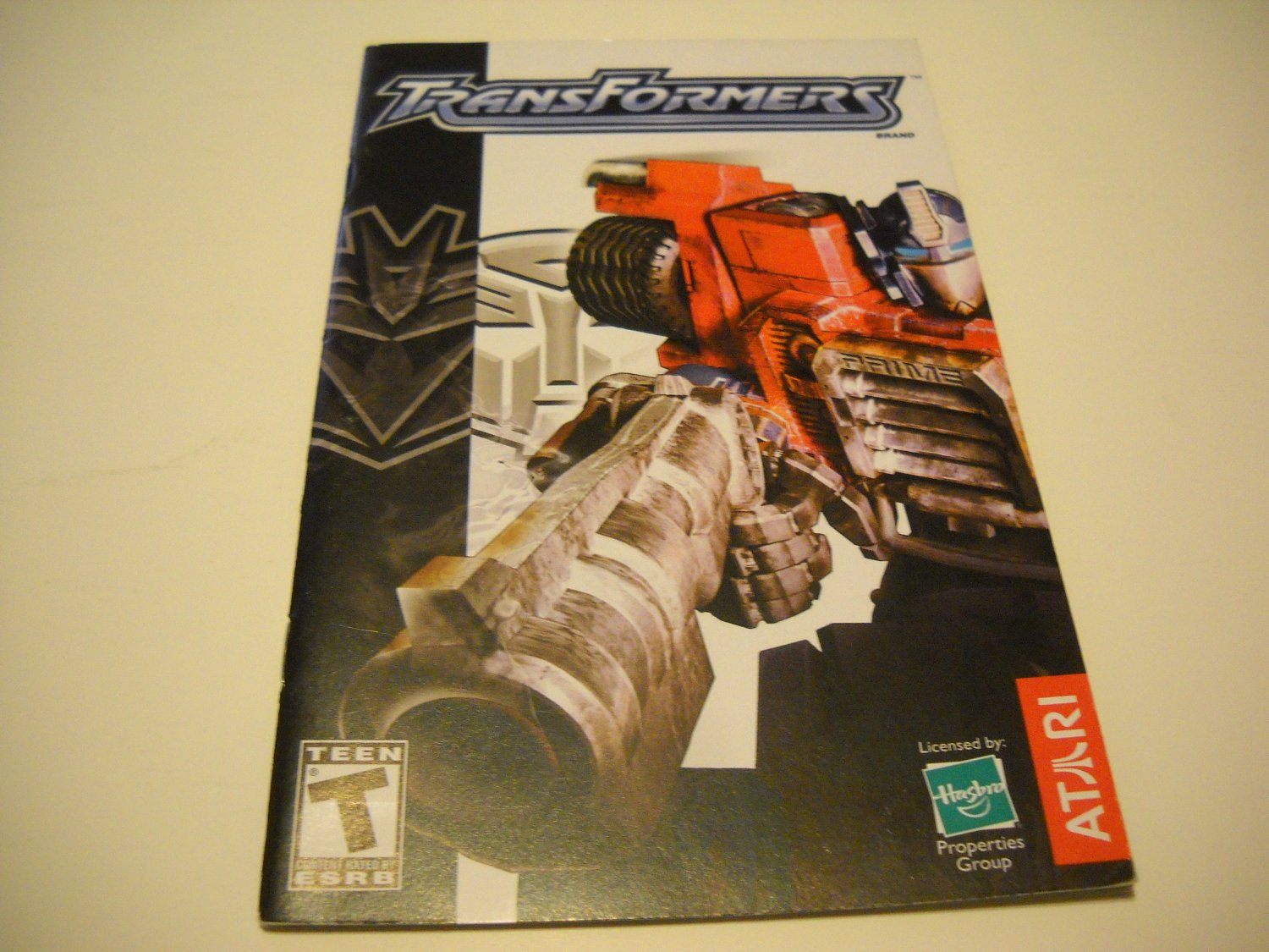Manual ONLY ~  for Transformers   Ps2