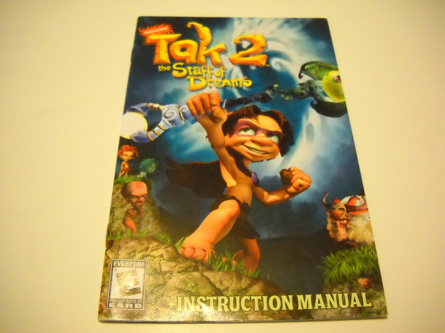 Manual ONLY ~  for Tak 2 The Staff of Dreams   Ps2