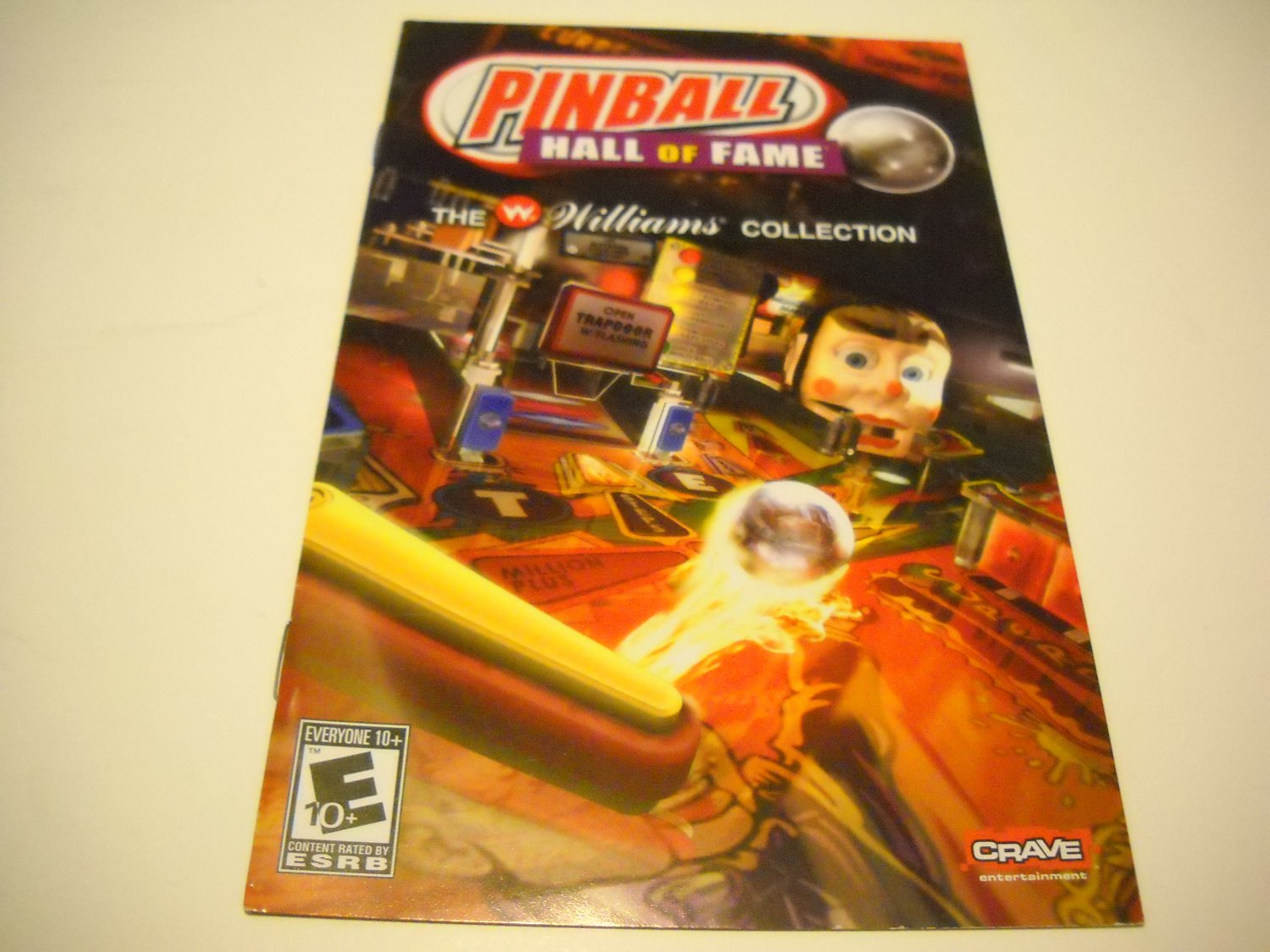 Manual ONLY ~  for Pinball Hall of Fame   Ps2