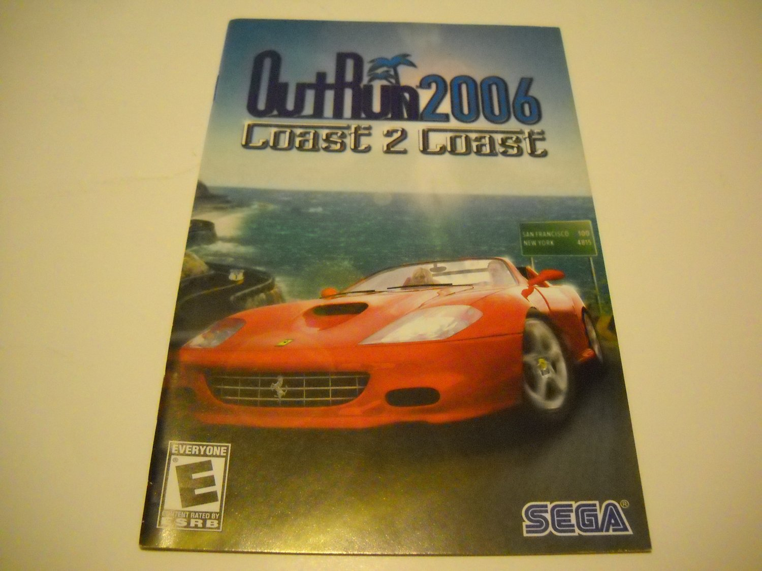 Manual ONLY ~  for Outrun 2006 Coast 2 Coast   Ps2