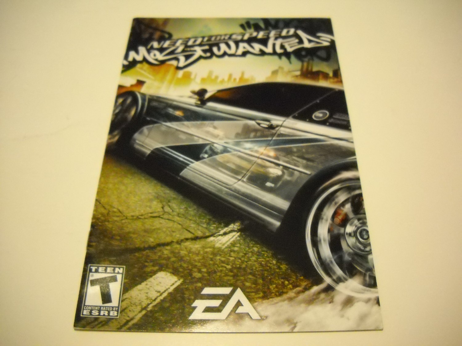 Manual ONLY ~  for Need for Speed Most Wanted   Ps2
