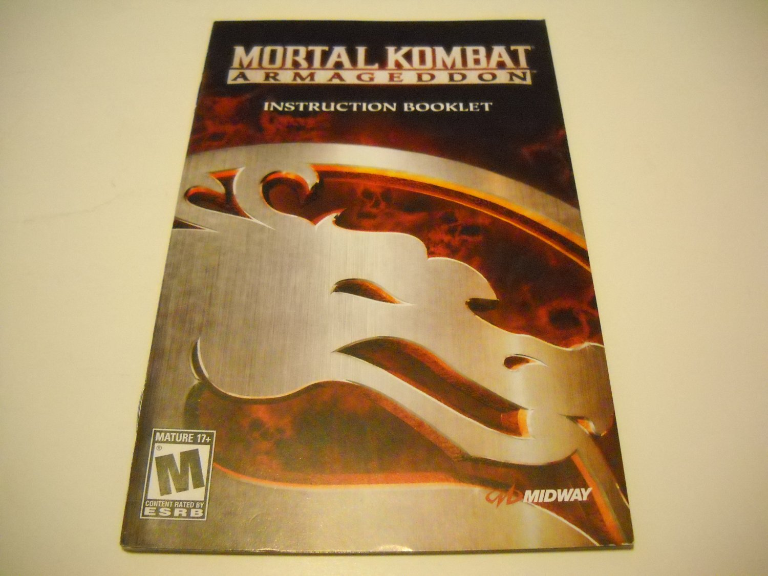 Manual ONLY ~  for Mortal Kombat Armegeddon   Ps2