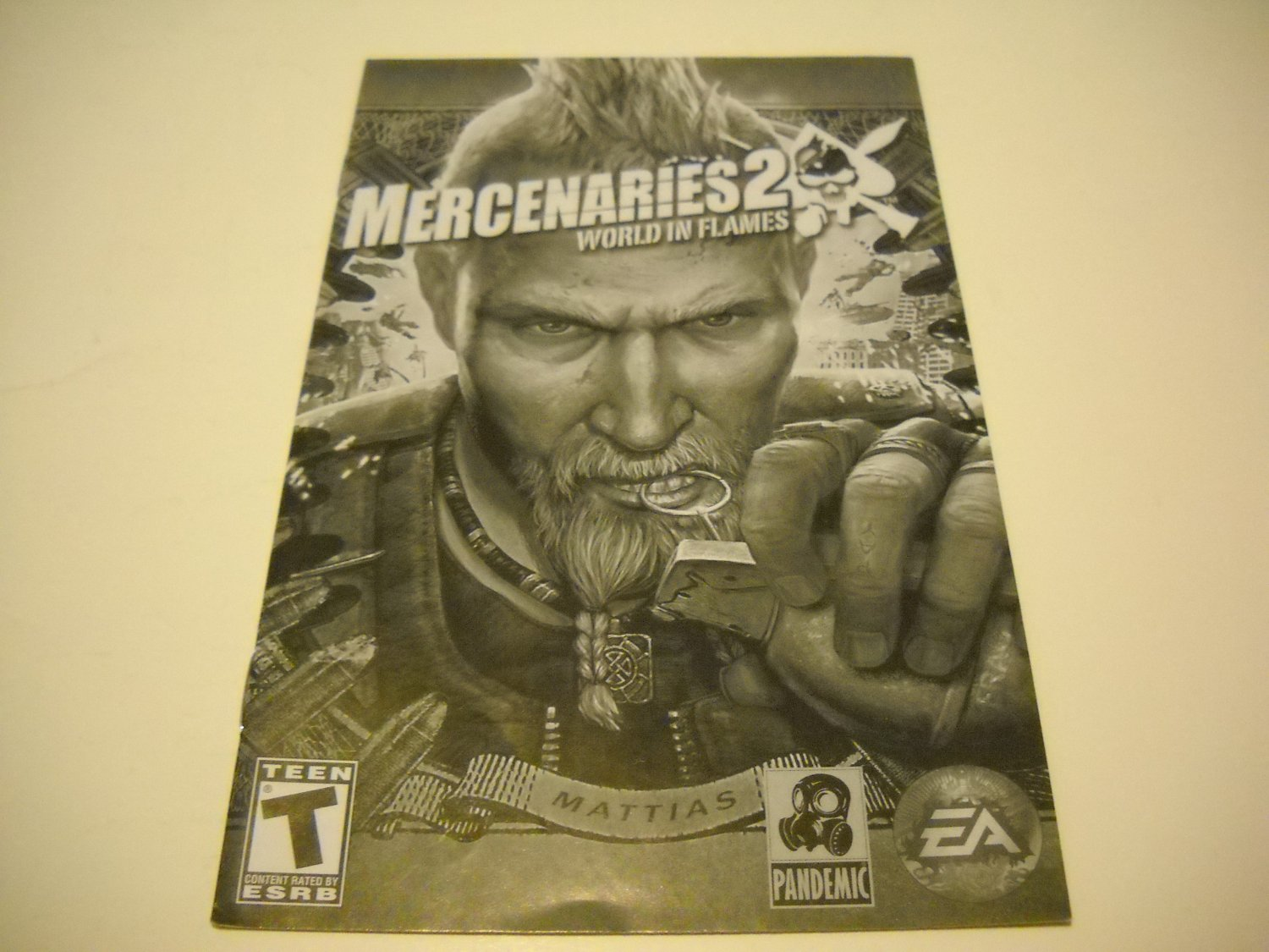 Manual ONLY ~  for Mercenaries 2 World in Flames   Ps2