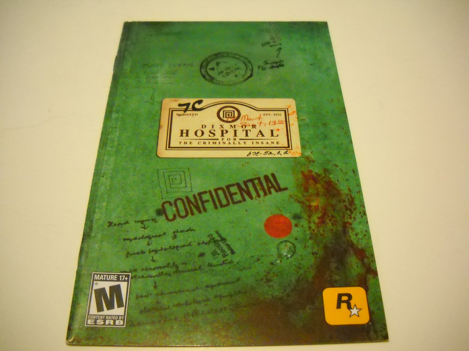 Manual ONLY ~  for Manhunt 2   Ps2