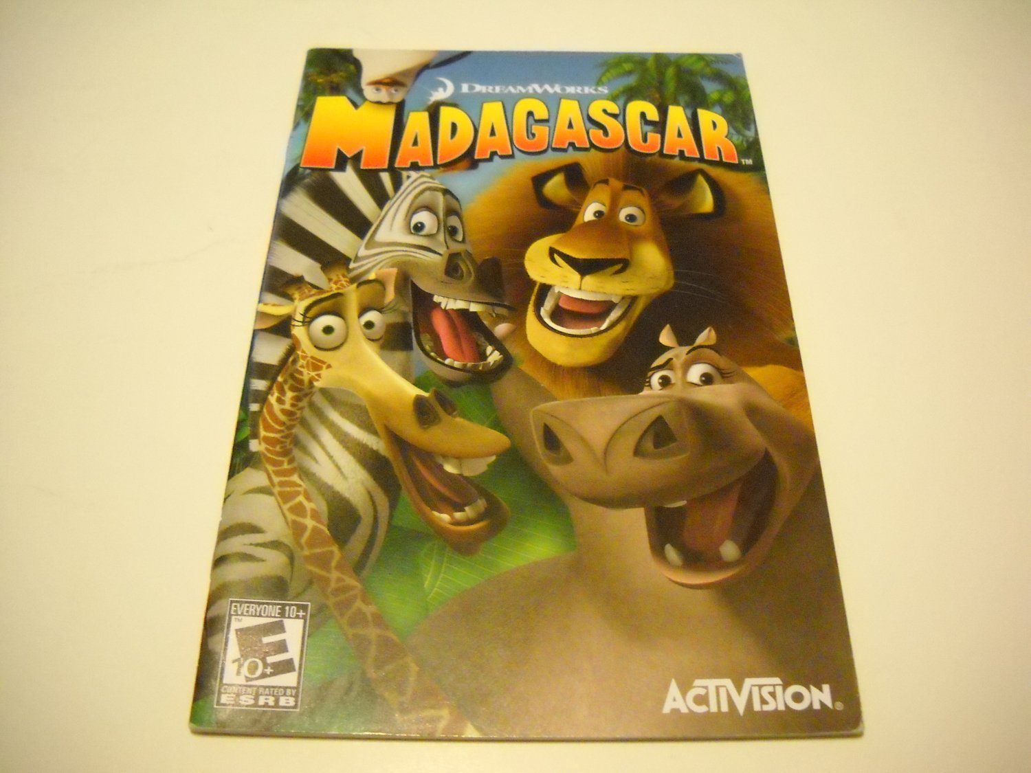 Manual ONLY ~  for Madagascar   Ps2