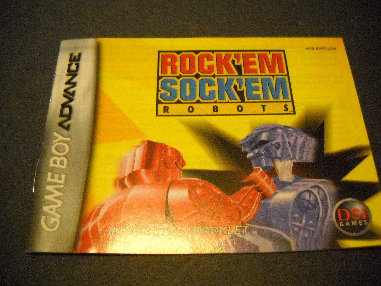 Manual ONLY ~  for Rock'em Sock'em Robots  Gameboy Advance