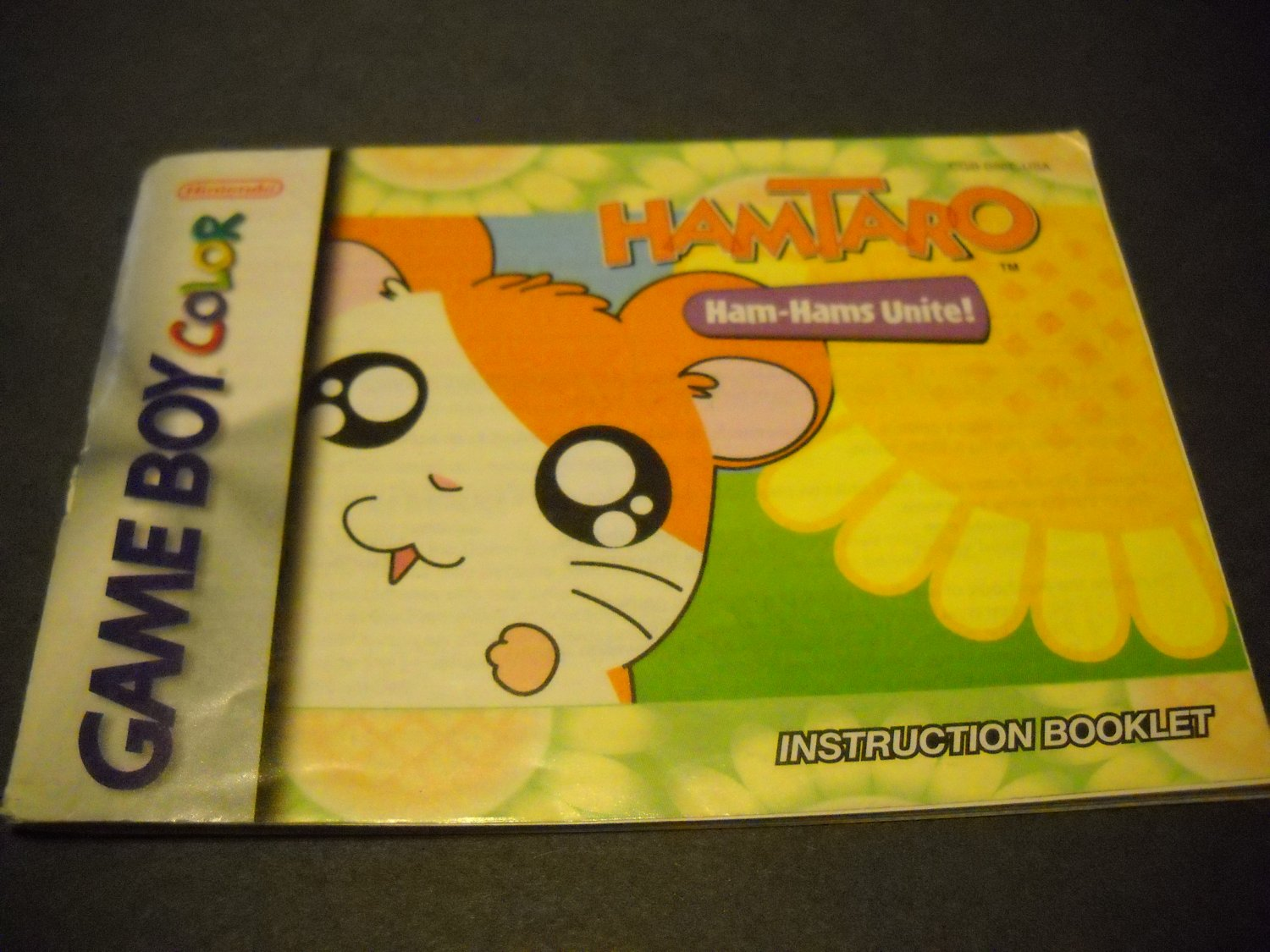 Manual ONLY ~  for Hamtaro Ham-Hams Unite Gameboy Color, GBC