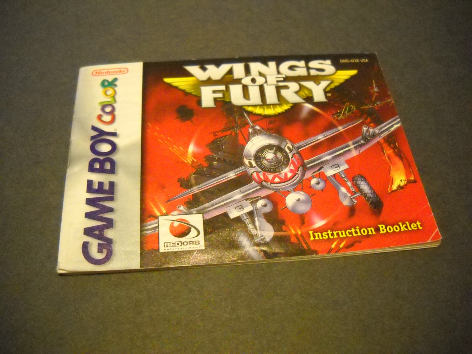 Manual ONLY ~  for Wings of Fury Gameboy Color, GBC