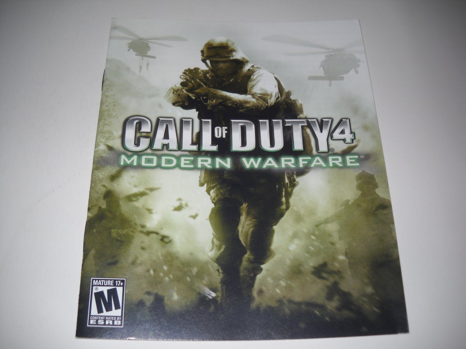 Manual ONLY ~  for Call of Duty 4 Modern Warfare , PS3