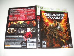 Artwork ONLY ~  Gears of War  - Xbox 360 Cover Art Insert
