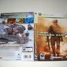 Artwork ONLY ~  Call of Duty Modern Warfare 2 - Xbox 360 Cover Art Insert