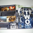 Artwork ONLY ~  Army of Two  - Xbox 360 Cover Art Insert