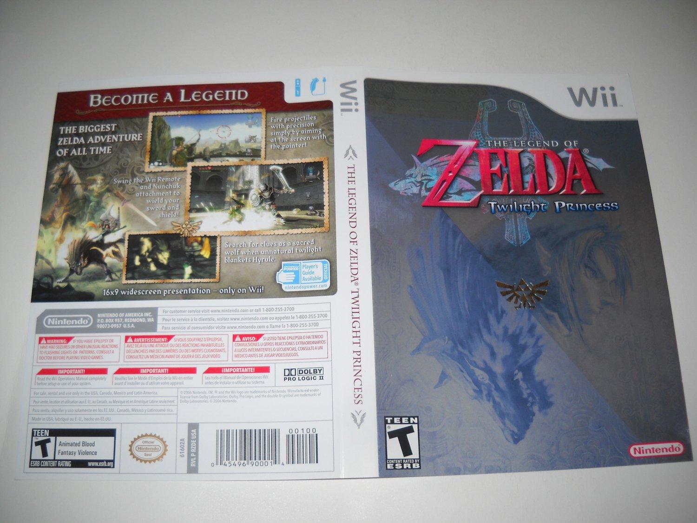 Artwork ONLY ~  The Legend of Zelda Twilight Princess  - Nintendo Wii Cover Art Insert