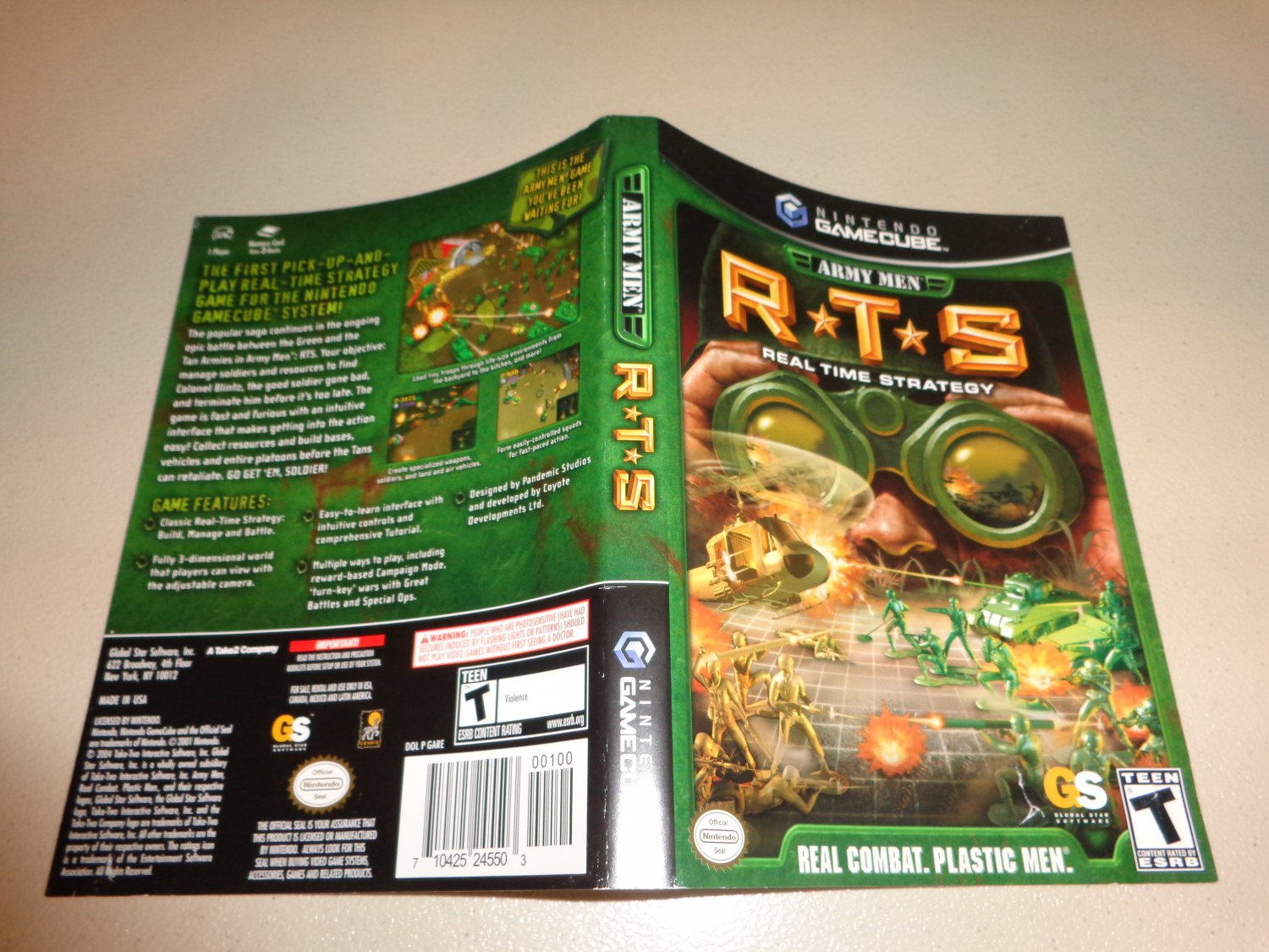 Artwork ONLY ~ Army Men RTS - Cover Art Gamecube