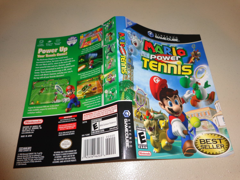 Artwork ONLY ~ Mario Power Tennis - Cover Art Gamecube