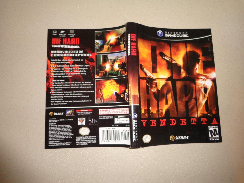 Artwork ONLY ~ Die Hard Vendetta - Gamecube Cover Art Insert