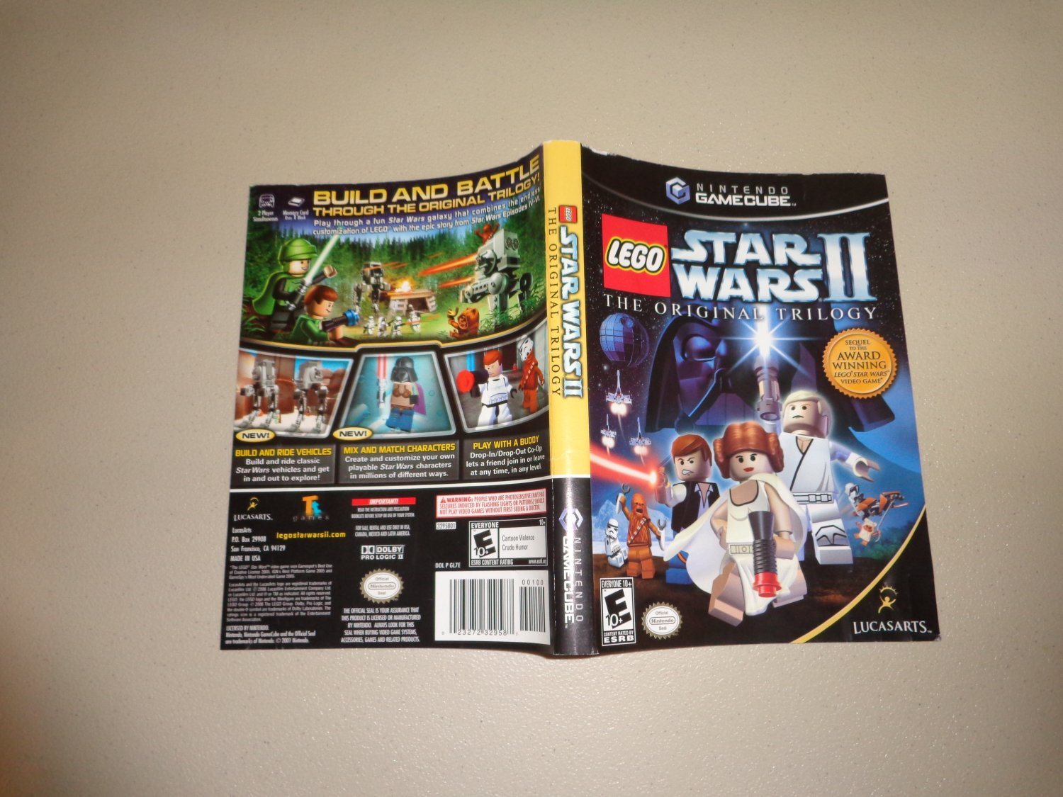 Artwork ONLY ~ Lego Star Wars II - Gamecube Cover Art Insert