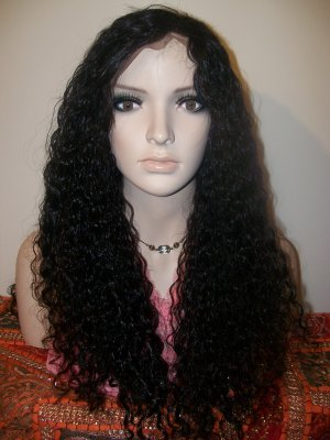 Virgin Chinese Kinky Curly Full Lace Wig