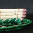 French Majolica Asparagus Platter, Cradle and Pitcher Tuilerie Normande