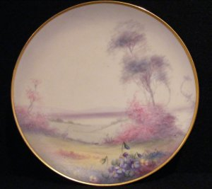 Pickard Scenic Vellum Plate by Maley