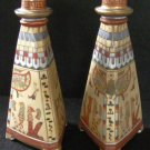 Nippon Kneeling Pharaohs Egyptian Candlesticks