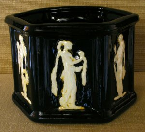 An unusual Weller Pottery Clinton Ivory jardinière