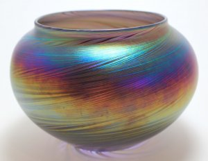 Zellique Art Glass Vase, signed by Joseph Morel and dated 1992.