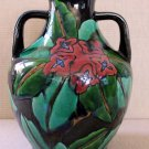 Art Deco Studio Decorated Japanese Sanpei Kiln Awaji Ware Handled Vase