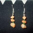Orange Adventurine Dangle Earrings