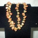 Double Strand Orange Adventurine Stretch Bracelet
