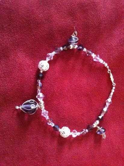 Purple Passion Swarovski Crystal Bracelet/Anklet