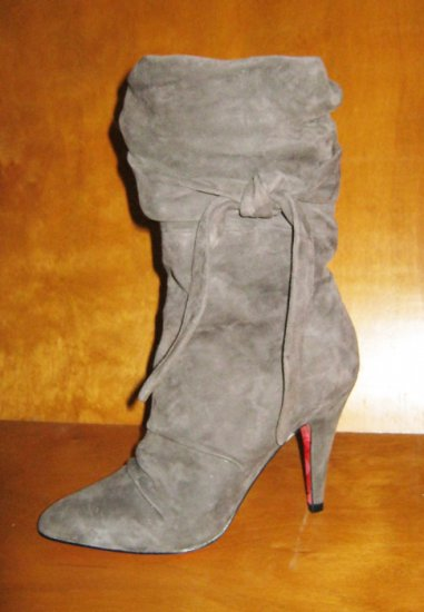 *Betsey Johnson* Grey Suede Willa Boot