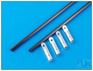 XT83035S Tail Brace Set Silver