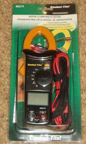 Conduct-Tite 86274 Digital Clamp MultiTester Multimeter Electrical testing