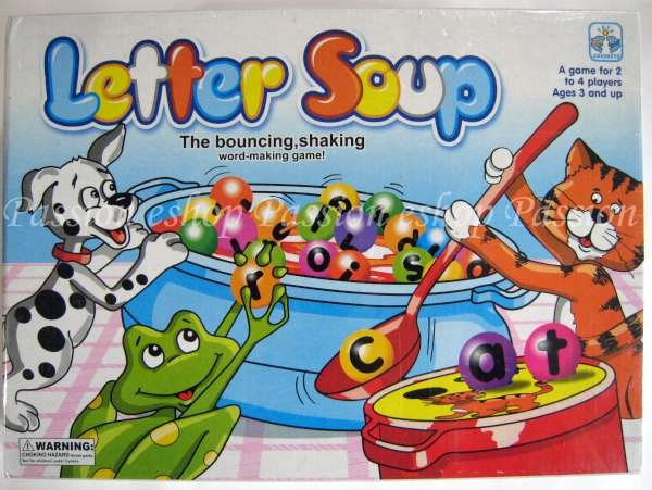 Letter Soup Bouncing Shaking Word Making Game
