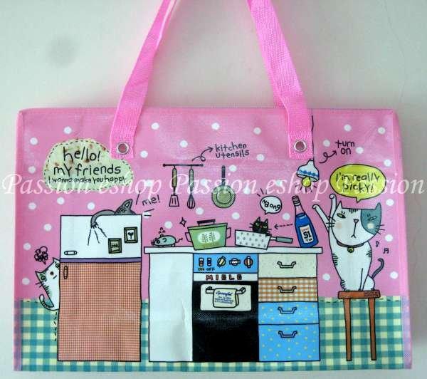 Cat Environmental Friendly Bag (Pink)